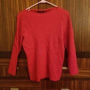 Red Lauren Ralph Lauren sweater front emblem XL
